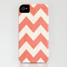 Vintage Coral Chevron iPhone (4, 4s) Slim Case
