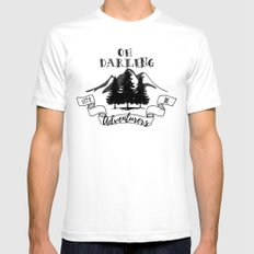 Lets Be Adventurers Mens Fitted Tee White SMALL