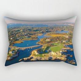 The Waves Mansion and Newport Bridge, Newport, Rhode Island Rectangular Pillow