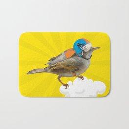 Little bird on little cloud Bath Mat