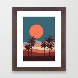 Abstract Landscape 13 Portrait Framed Art Print