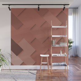 Terracotta pattern, layered like shingles, tiles or paint swatches you just cannot choose from! Wall Mural