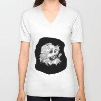 mushrooms V-neck T-shirts featuring Mushrooms by Sam Dean Lynn