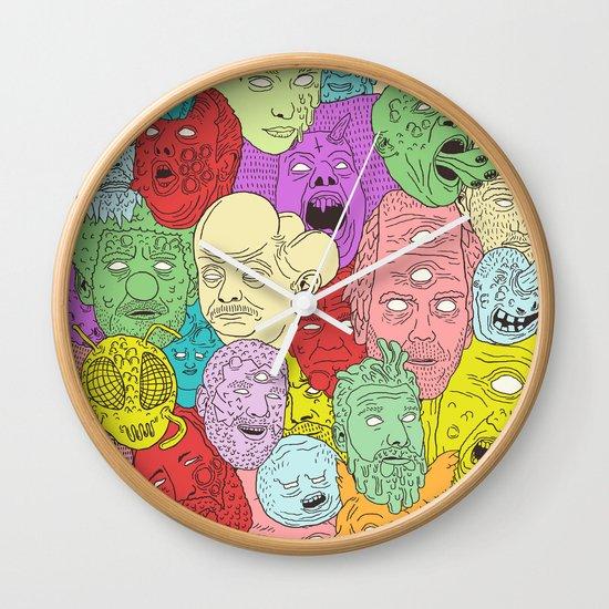 Faces of Math Wall Clock