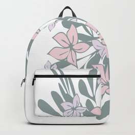 Wild pink floral Backpack