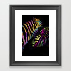 Pop Zebras Framed Art Print