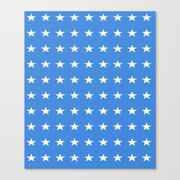 stars and blue-sky,light,blue,rays,hope,spangled,estrella,astre,pointed,azul,azure Canvas Print