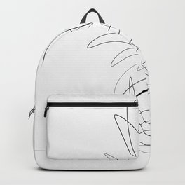 One Line Pineapple Backpack