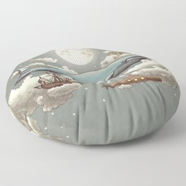 Ocean Meets Sky Floor Pillow