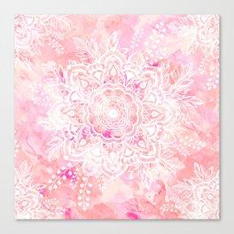 Queen Starring of Mandalas-Rose Canvas Print