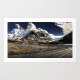 Glacier Expressif Art Print