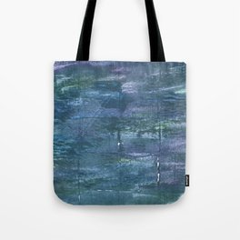 Metallic blue abstract watercolor Tote Bag