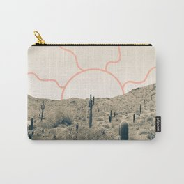 Wonder Rift // Abstract Vintage Mountains Summer Sun Surfer Beach Vibes Drawing Happy Wall Decor Carry-All Pouch