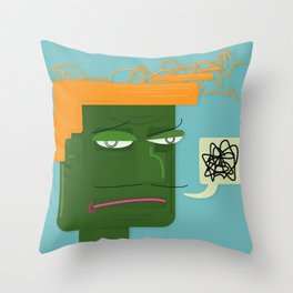 Unsatisfied Customer One Throw Pillow