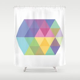 Fig. 015 Colorful Hexagon Shower Curtain