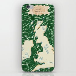 Vintage Victorian British Isles Map iPhone Skin
