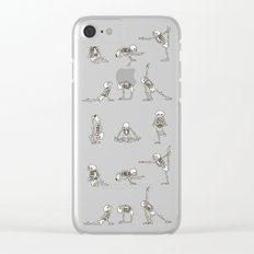 Skeleton Yoga Clear iPhone Case