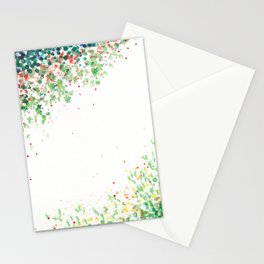 Floral Mosaic Watercolor Painting Stationery Cards
