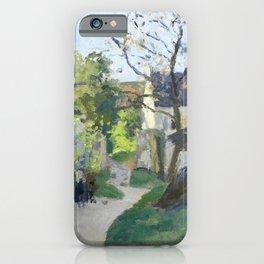 """Camille Pissarro """"Le grand noyer à l'Hermitage"""" iPhone Case"""