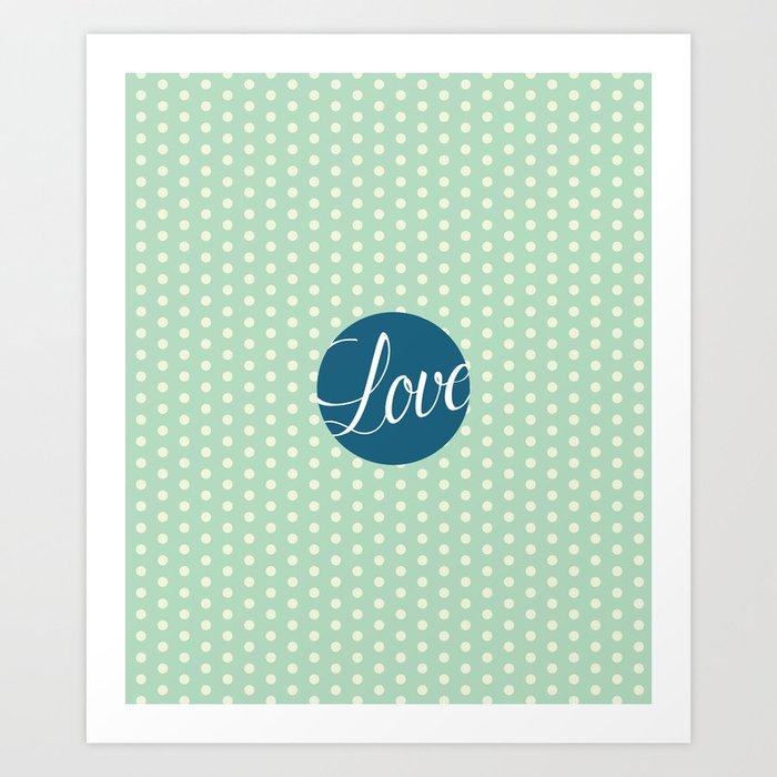 Dotted Love Art Print