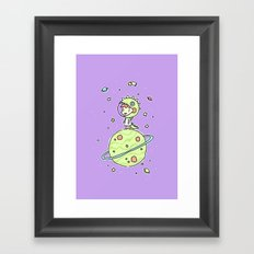 Space Dinosaur Framed Art Print