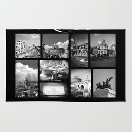 Rome Poster black and white Rug
