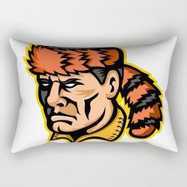 Davy Crockett Mascot Rectangular Pillow