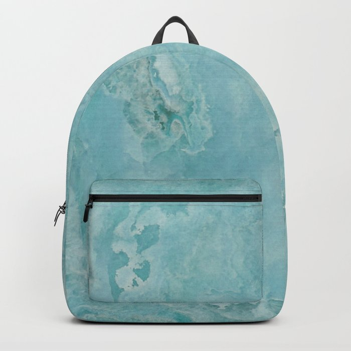 Turquoise Sea Marble Backpack