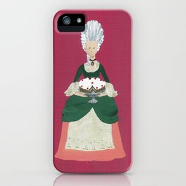 The Lady Who Had Her Cake - Original Marie Antoinette Inspired Artwork iPhone Case