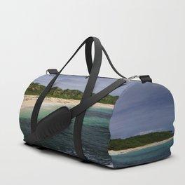 Mon arrivée sur la plage de Cap Macré Duffle Bag