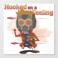 starlord Canvas Prints featuring STARLORD by Doctor Keros