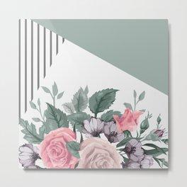 FLOWERS IX Metal Print