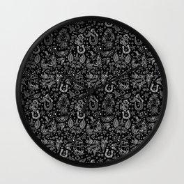 Old School Tattoo Pattern Wall Clock