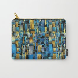 Gold and Turquoise Carry-All Pouch