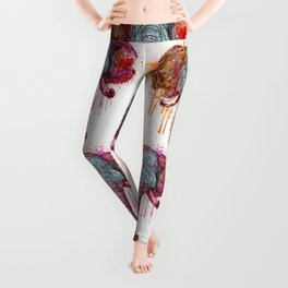 Watercolor Elephant Head Leggings