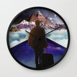 A Trip To Another Dimension Wall Clock