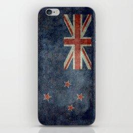 New Zealand Flag - Grungy retro style iPhone Skin