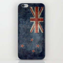 New Zealand Flag - Grungy retro style iPhone Skin
