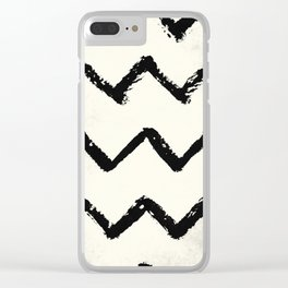 ZigZag Stripes on Ivory Clear iPhone Case