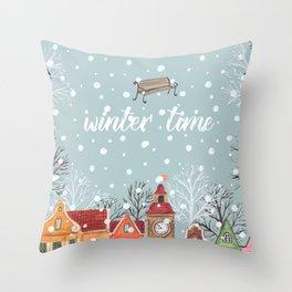 winter time Throw Pillow