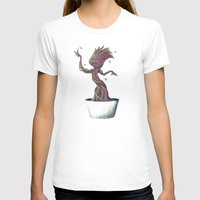 groot T-shirts featuring Dancing Groot by Charleighkat