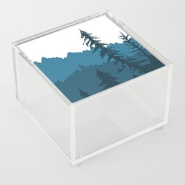 Tree Gradient Blue Acrylic Box