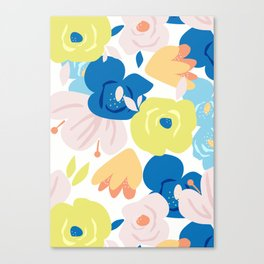Painterly Blooms Canvas Print