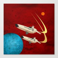 battlestar galactica Canvas Prints featuring Galactica by Tony Vazquez