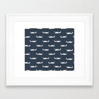 blackhawks Framed Art Prints featuring blue hawks by Let it Rain