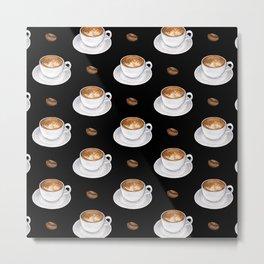 Cappuccino - black Metal Print