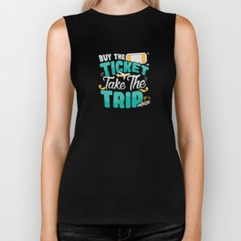 Traveling T-Shirt Buy The Ticket Take The Trip  Biker Tank