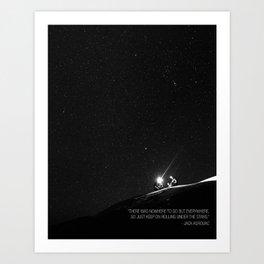 Keep on Rolling Under the Stars Art Print