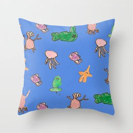 Under the Sea by Brody Throw Pillow