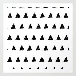 Aztec minimal triangles Art Print